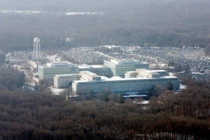 Le quartier-général de la CIA à Langley, en...