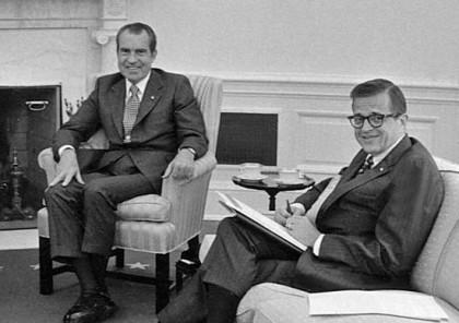 1971 : le président Richard Nixon et son...