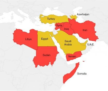 Irak, Iran, Libye, Somalie, Soudan, Syrie et Yémen. Si Donald Trump donne suite...