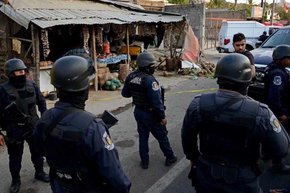 Près de 200 policiers d'une municipalité de l'État mexicain de... (ARCHIVES AFP)