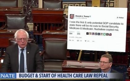 Bernie Sanders a contribué au débat qui s'amorce au Sénat concernant...