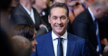 Heinz-Christian Strache, chef d'un parti autrichien d'extrême-droite, a...