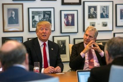 Donald Trump a rencontré aujourd\'hui les dirigeants et...