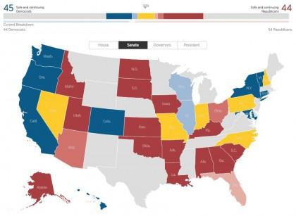 La majorité au Sénat américain se jouera demain dans six États clés, selon le...