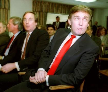 Donald Trump en 1990, à l'époque où il...