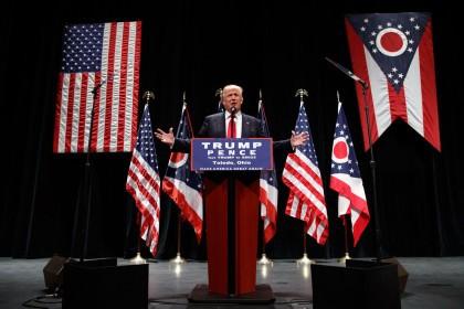 Donald Trump a fait campagne à Toledo, Ohio,...