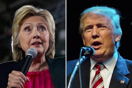 Hillary Clinton et Donald Trump : au coude-à-coude...