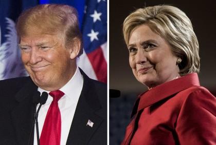 Donald Trump et Hillary Clinton (Photos AP)...