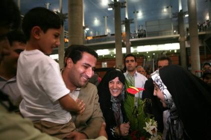Shahram Amiri a eu droits à des retrouvailles...