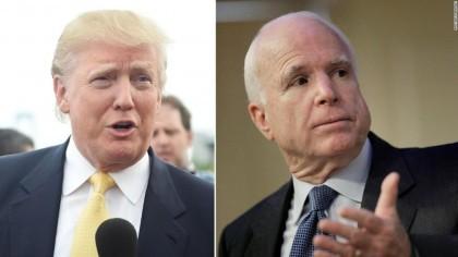 Donald Trump et John McCain : pas sur...