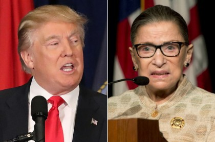 Donald Trump et Ruth Bader Justice : le...