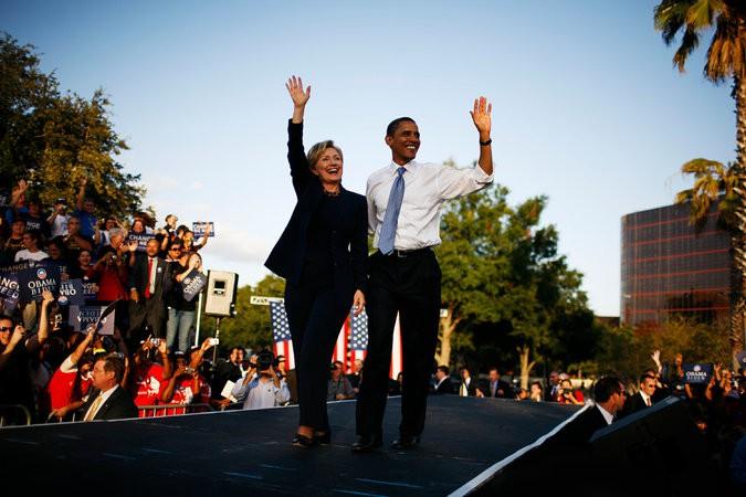 Hillary Clinton a fait campagne au côté de...