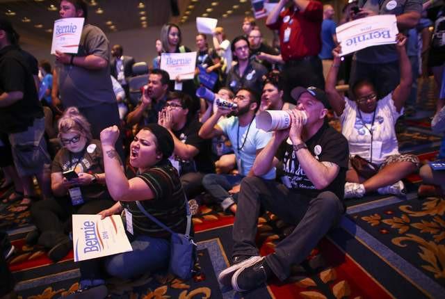 Des partisans de Bernie Sanders ont exprimé leur...
