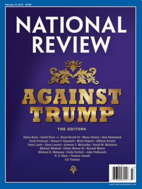 Le magazine National Review vient de publier un manifeste anti-Trump...