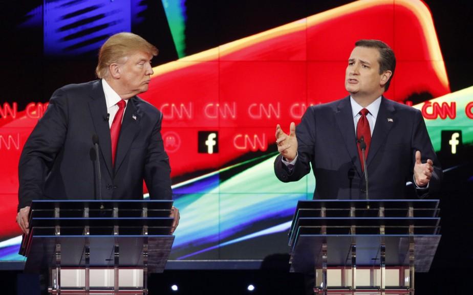 Donald Trump et Ted Cruz ont croisé le...
