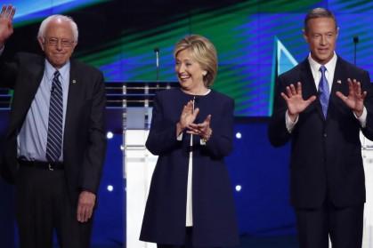 Bernie Sanders, Hillary Clinton et Martin O'Malley croiseront...