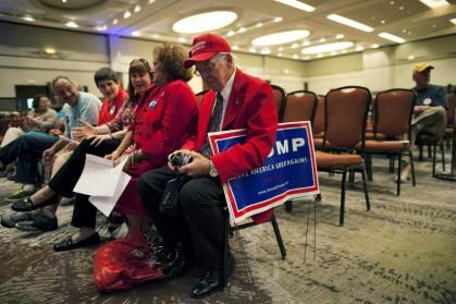 Donald Trump n'a pas attiré la foule escomptée...