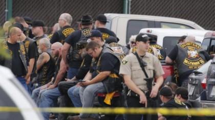 Quelque 170 motards ont été arrêtés après une...