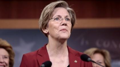 La position de la sénatrice démocrate du Massachusetts...