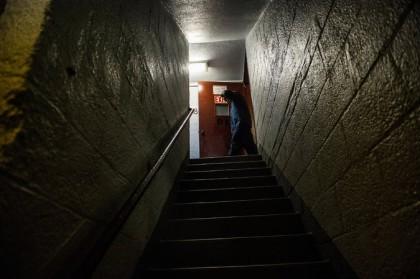 L'escalier où un policier de New York a...