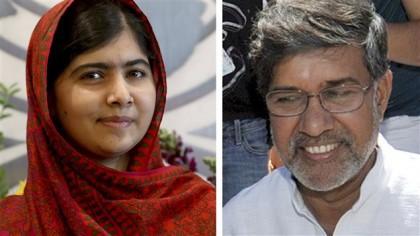 Malala Yousafzai et Kailash Satyarthi, récipiendaires du prix...