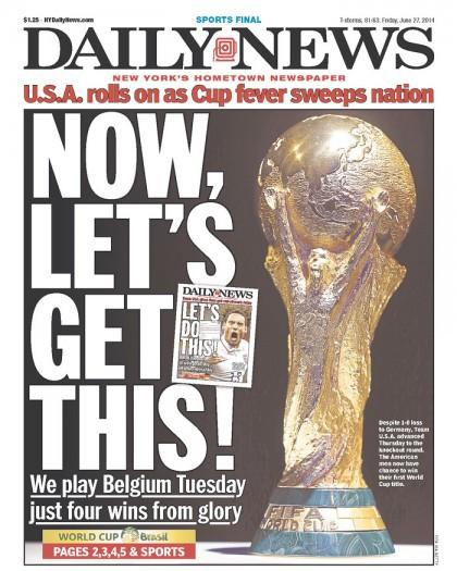 Le Daily News de New York exprime aujourd'hui en première page la...