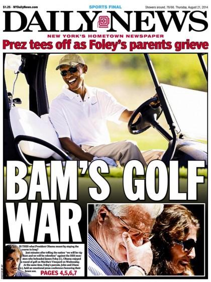 Plusieurs journalistes ont noté hier que Barack Obama s'était empressé d'aller...