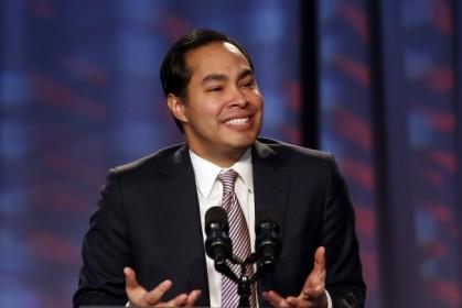 Julian Castro lors de son discours à la...