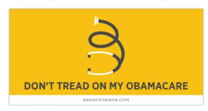 À quoi cet auto-collant offert sur BarackObama.com vous fait-il penser et à qui...
