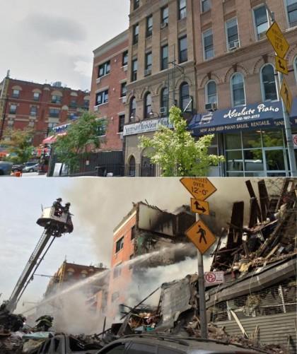 Une explosion causée par une fuite de gaz a détruit deux immeubles d'East...