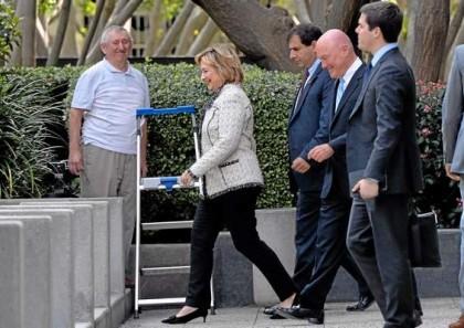 Hillary Clinton était en Californie hier à la...