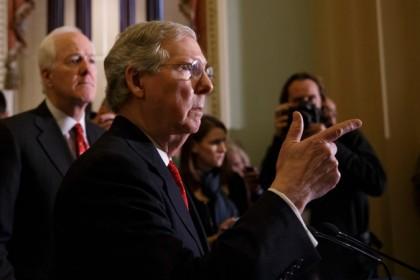 Mitch McConnell, chef de la minorité républicaine au...