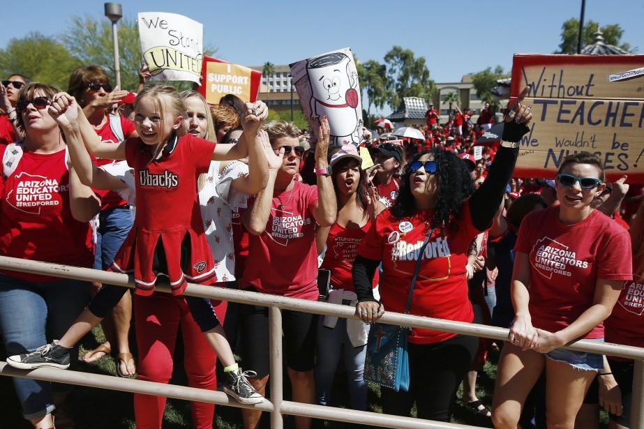 Une manifestationvictorieuse a eu lieu jeudi à Phoenix.... (PHOTO AP)