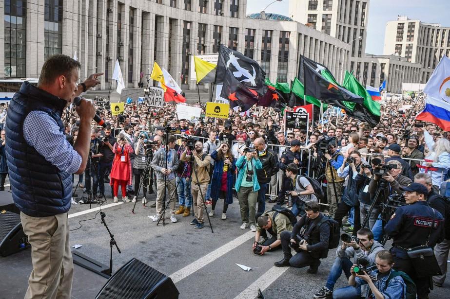 Alexeï Navalny a appelé les Russes à manifester... (Photo Alexander Nemenov, Agence France-Presse)