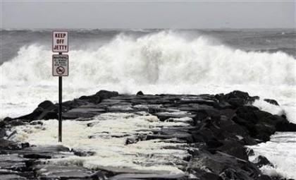 L\'ouragan Sandy faisait déjà sentir sa force hier...