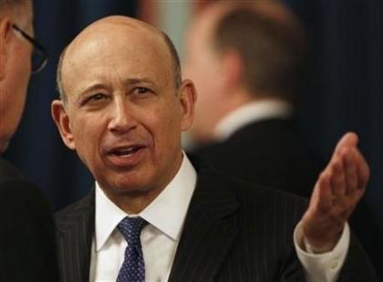 Le grand patron de Goldman Sachs, Lloyd Blankfein,...