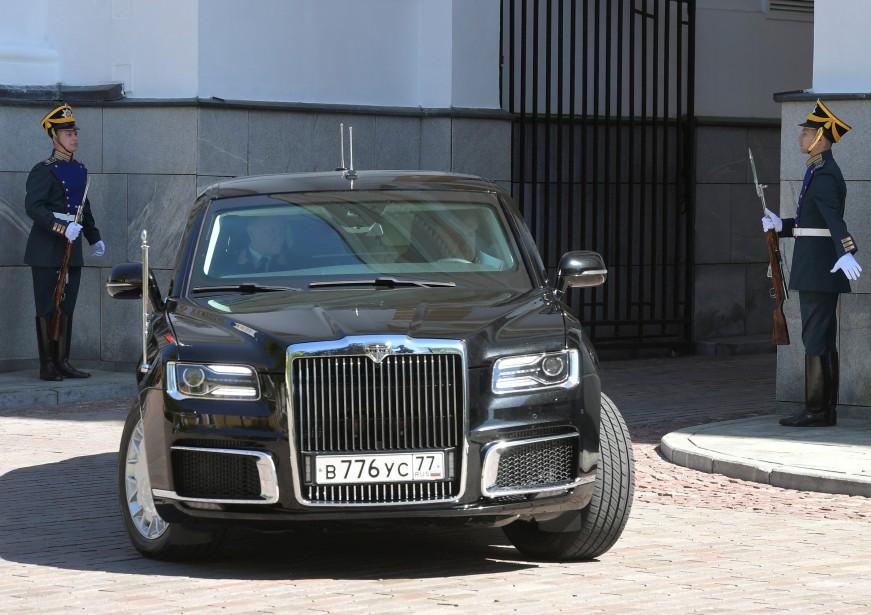 Conçue par l'Institut central de recherche scientifique et automobile, à Moscou, la limousine sera commercialisée sous la marque «Aurus». Elle sera présentée au prochainSalon de l'automobile de Moscou. (Photo Agence Spoutnik, via Reuters)