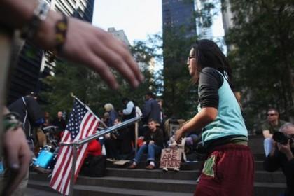 Zuccotti Park, le 17 octobre 2011 : le...