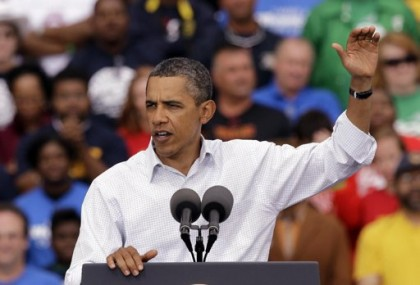 Dans un discours à Detroit lundi, Barack Obama...