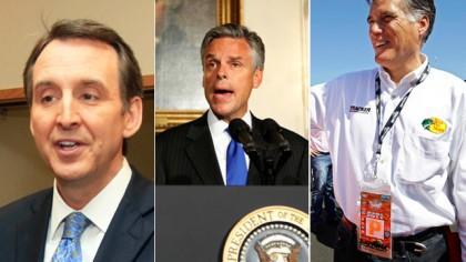 Tim Pawlenty, Jon Huntsman et Mitt Romney sont...