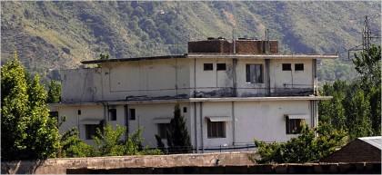 Une vue de la résidence où Oussama ben...