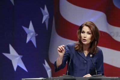 La représentante républicaine du Minnesota Michele Bachmann, pasionara du Tea...