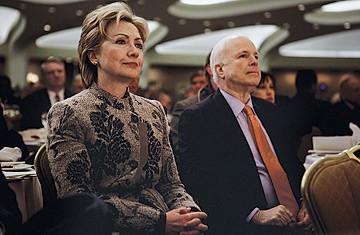 Hillary Clinton et John McCain ont reçu le soutien du New York Times,...