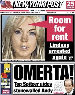 P.S. : Lohan proclame ici son innocence. La coke que la police a trouvée dans...