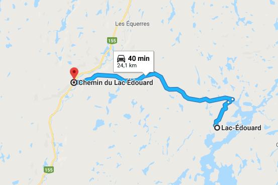 Circuit du chemin du Lac-Édouard ()