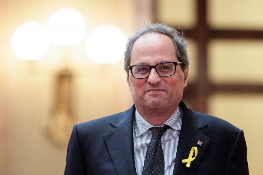 Le nouveau député régional Quim Torra, 55 ans,... (Photo Josep Lago, Agence France-Presse)