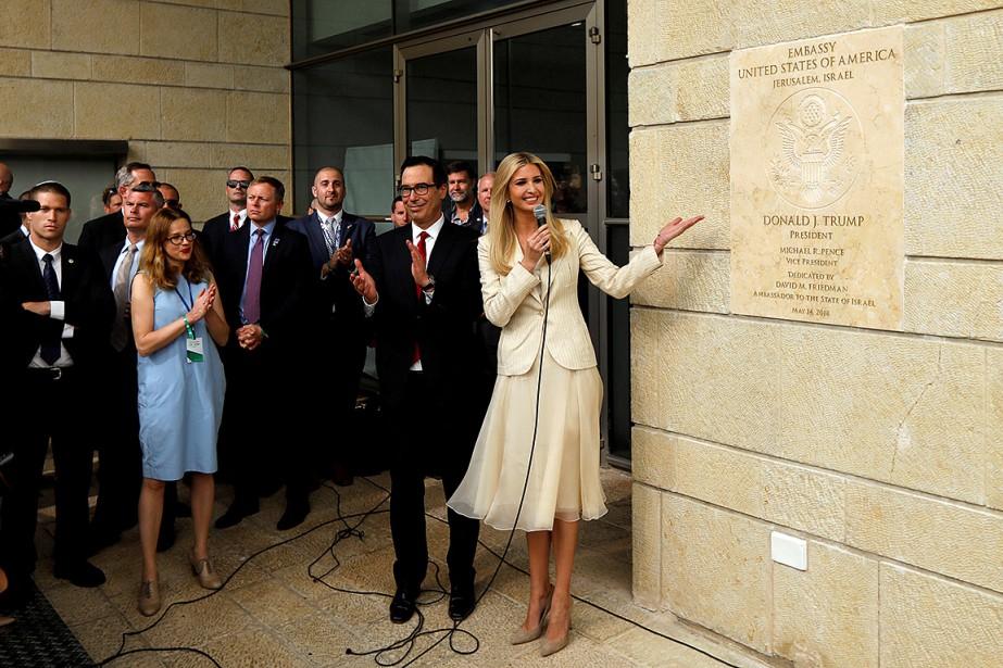 La fille de Donald Trump, Ivanka, et le... (PHOTO RONEN ZVULUN, ARCHIVES REUTERS)