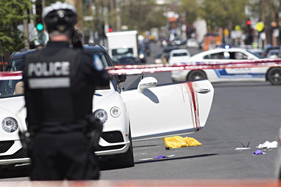 L'événement est survenu sur la rue Bélanger, entre les rues Fabre et Garnier. (Photo Patrick Sanfaçon, La Presse)
