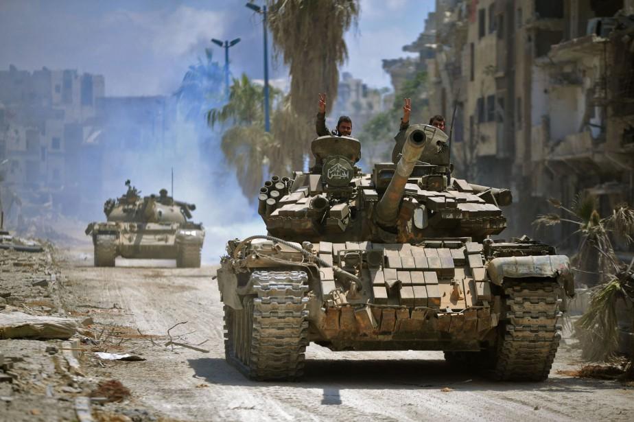 «Le régime syrien contrôle désormais l'intégralité du quartier... (AFP)