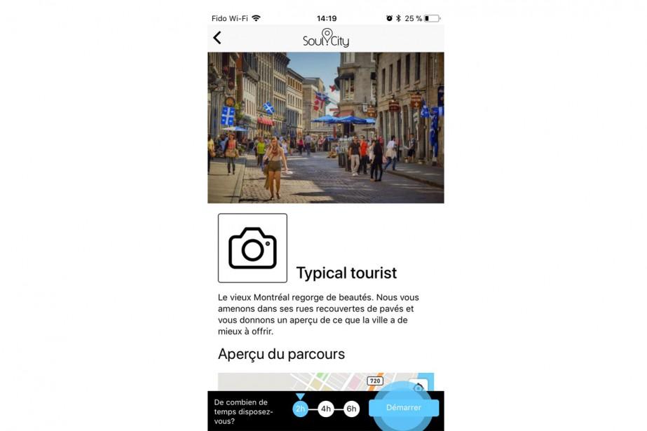L'application Soul.Citypropose des parcours urbains en fonction de... (Photo tirée de l'application Soul.City)